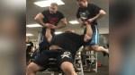 Watch Strongman Eddie Hall Bench Press Two Men