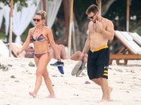 Hilary Duff Shows Off Her Toned Body at the Beach in Mexico