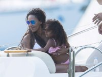 The beautiful Mel B and family enjoy a scenic cruise