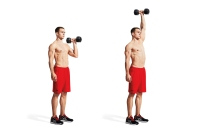 One-Arm, Elbow-in Dumbbell Overhead Press