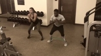 Kevin Hart & Wife Eniko Hart Hit the Gym Together