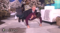Milo Ventimiglia Does Pushups with Ellen on His Back
