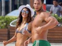 Nina Dobrev shows off her curves at the beach in Brazil