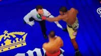 Watch: Boxer nearly knocks out referee, then saves him from crashing to the canvas