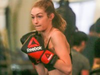 Gigi Hadid breaks a sweat boxing