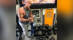 The Rock Gives His Dumbbells a Hilarious Nickname