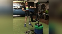 Watch: Actor Jim Parsons Crushes 400-Pound Sled Rows with One Arm