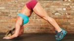 woman doing v pushup
