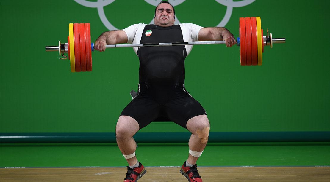 Olympic weightlifter Behdad Salimikordasiabi