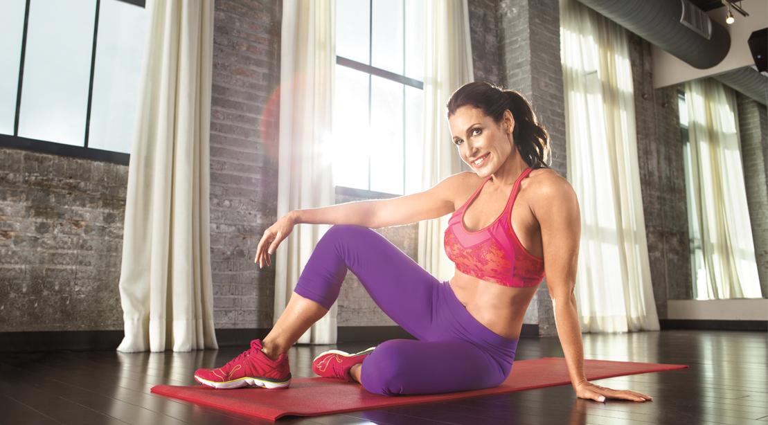 Michelle Johnson Stretching