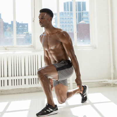 Man doing a squat.