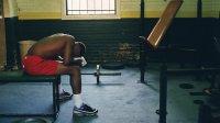 tired man at gym