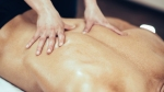 Man Getting A Back Massage