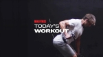 Man Does Alternating Dumbbell Row Exercise During Chest Workout
