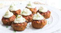 BBQ Turkey Meat Loaf Cups with Mashed Cauliflower