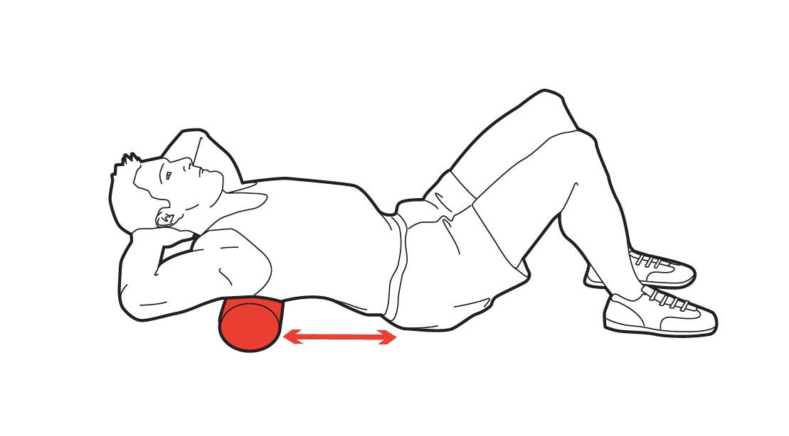 Middle back massage