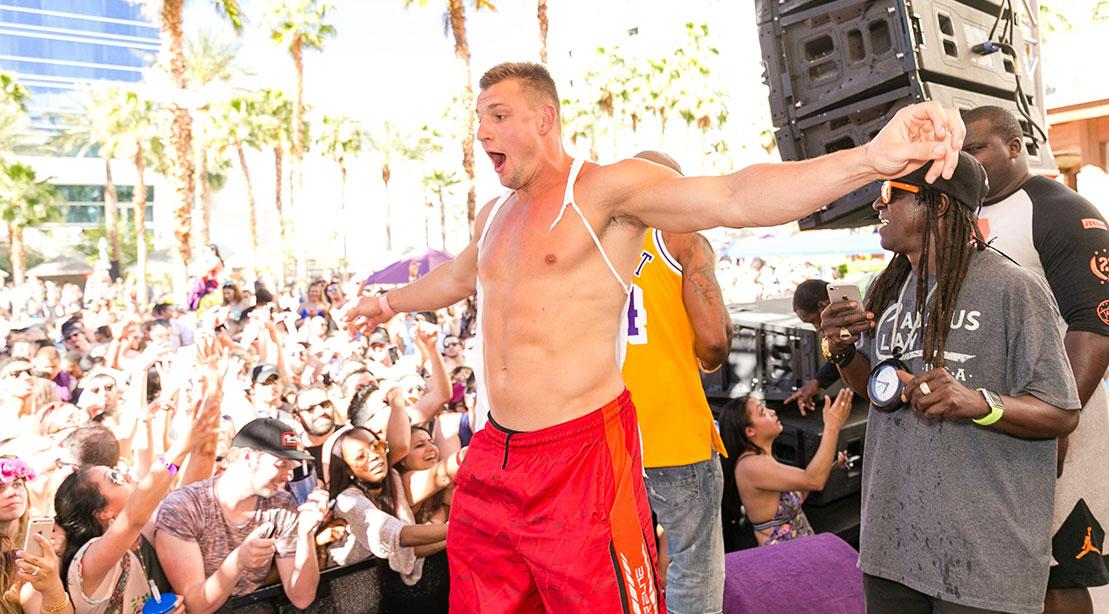 Gronkowski partying in Vegas