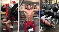 Bradley Castleberry lifting weights.
