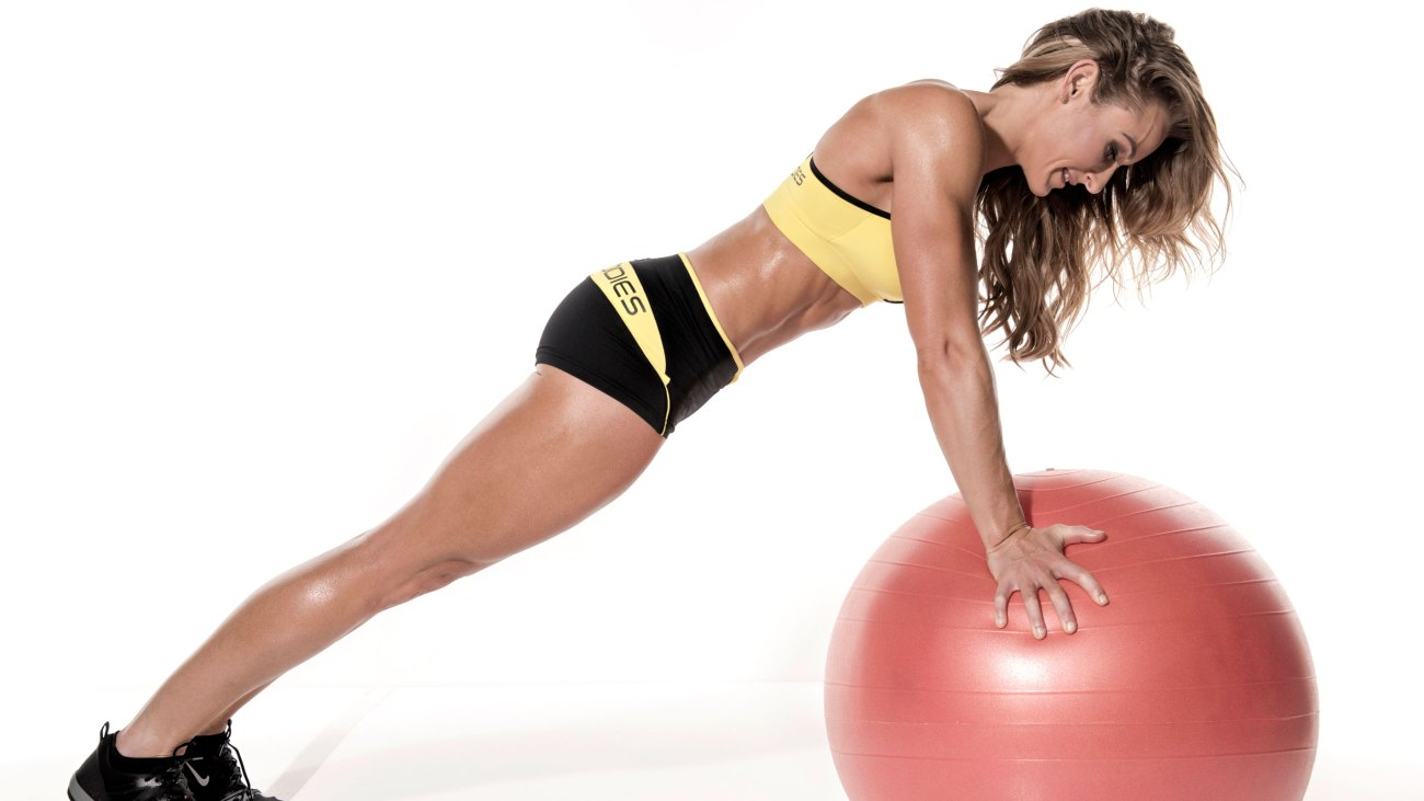 Women Doing A Plank On A Stability Ball