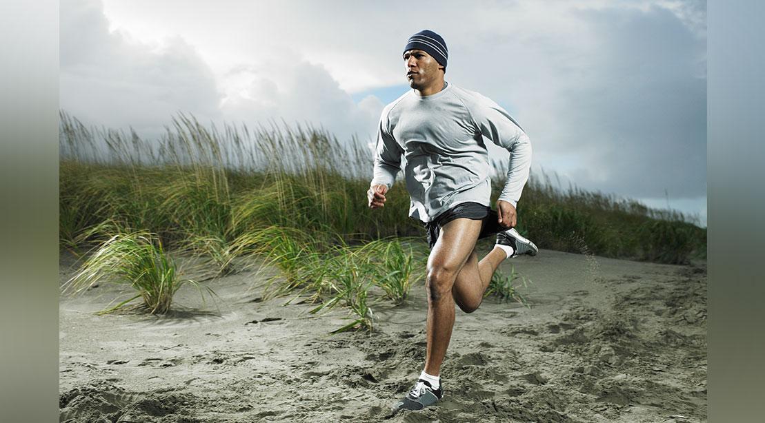 Man Running in Field
