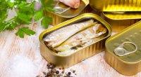 filés saudáveis de cavala de peixe enlatado em azeite de oliva