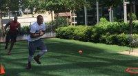 Melvin Sanders Training with Dallas Cowboy Dak Prescott