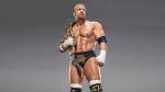 WWE prowrestler Triple H holding the champion belt