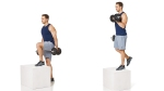How to do a Alternating Stepup and Single-Arm Dumbbell Curl