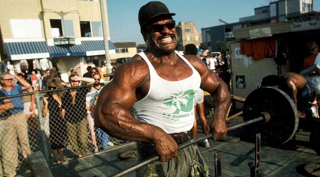 Buff Bodybuilder Wearing Tank Top at Muscle Beach