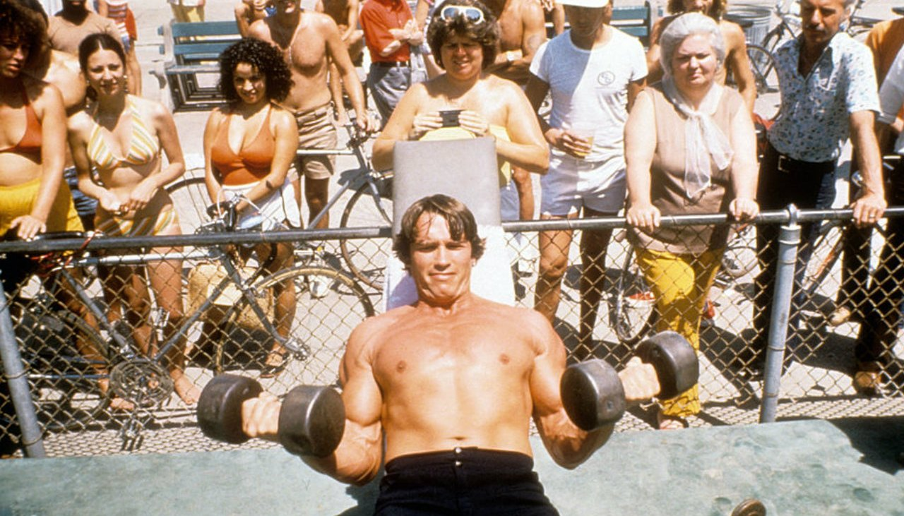 Arnold Schwarzenegger's Mr. Olympia chest and back workout from 1974