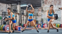 Woodchopper Bounding Lunge Exercise Woman