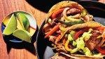 Steak Fajita Tacos With Avocado Crema