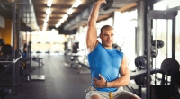 Seated One-Arm Dumbbell Overhead Press