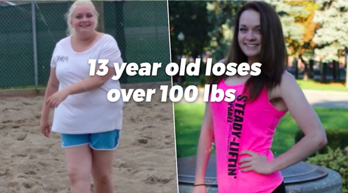 13 Year Old Inspires With 100lb Weight Loss Muscle Fitness
