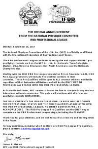 THE OFFICIAL ANNOUNCEMENT 091817