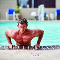 Pool edge dip exercise