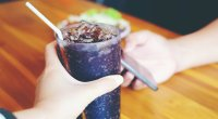 Large glass of soda