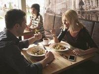 Dining at restaurant