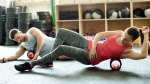 Foam Rolling Exercise in Gym