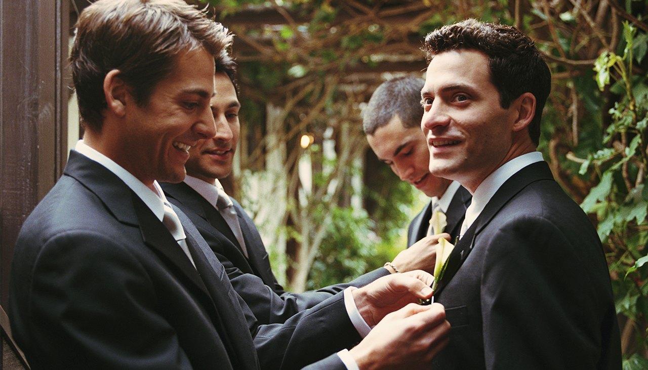 Men Get Ready for a Wedding