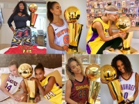 Models with NBA Trophies