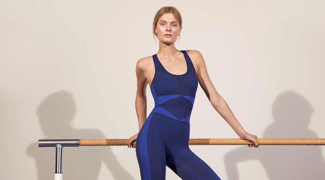 Seamless Full-Length Bodysuit by Tory Sport