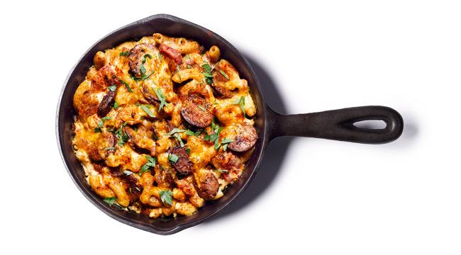 Whey Protein Recipe - Chorizo Mac and Cheese