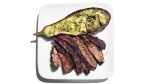 Hanger Steak and Baked Eggplant