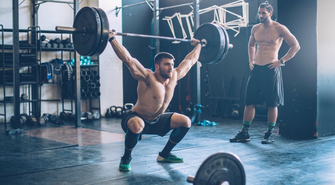 Overhead barbell squat