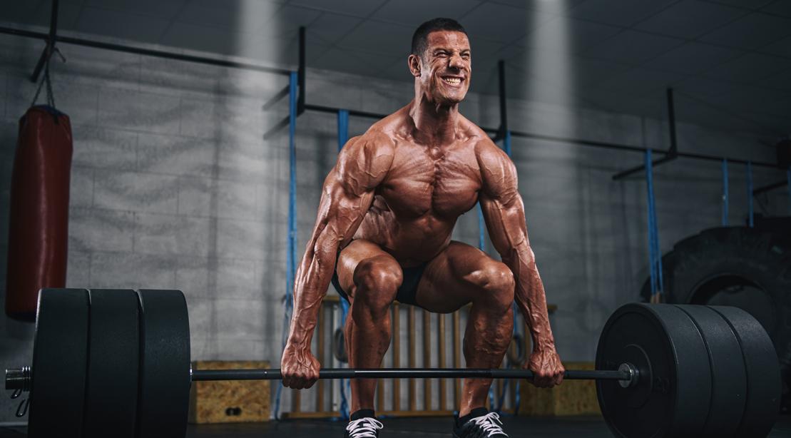 Muscular Men Lifting Heavy Weights, Dead Lift