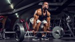 Bodybuilder Preparing to Deadlift