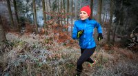 Woman Trail Running Outdoors