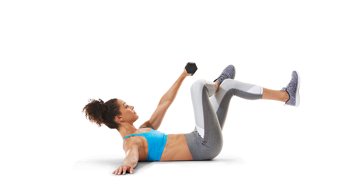 Single-Arm Pull Crunch