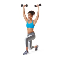 Lunge to Overhead Raise